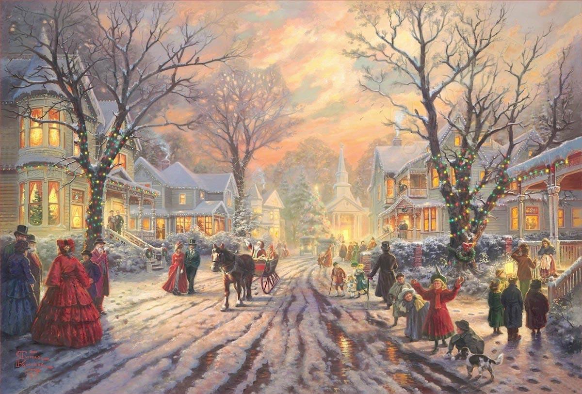 thomas kinkade a victorian christmas carol