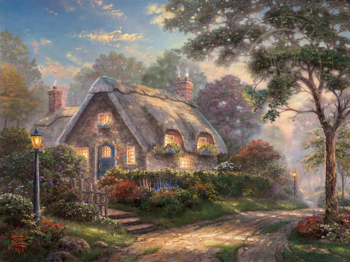 thomas kinkade lovelight cottage