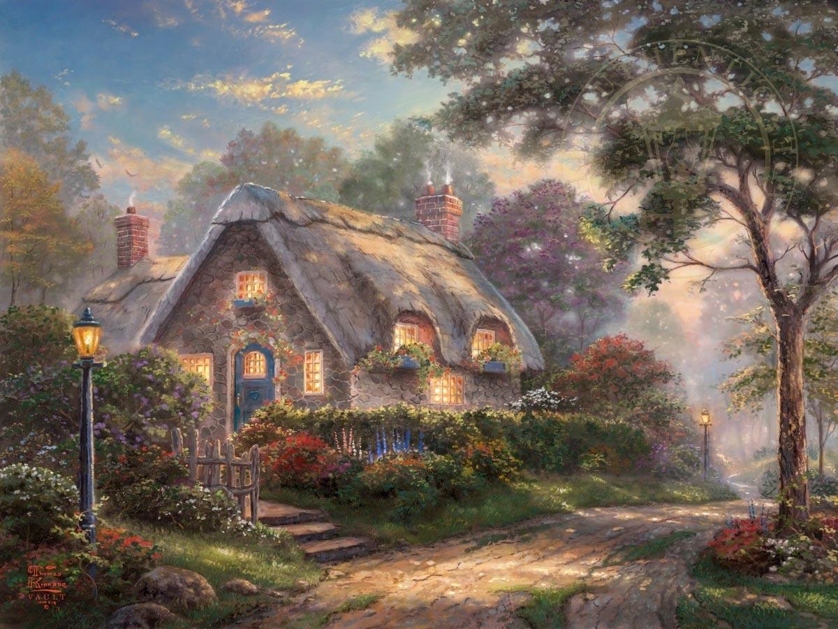 thomas kinkade lovelight cottage
