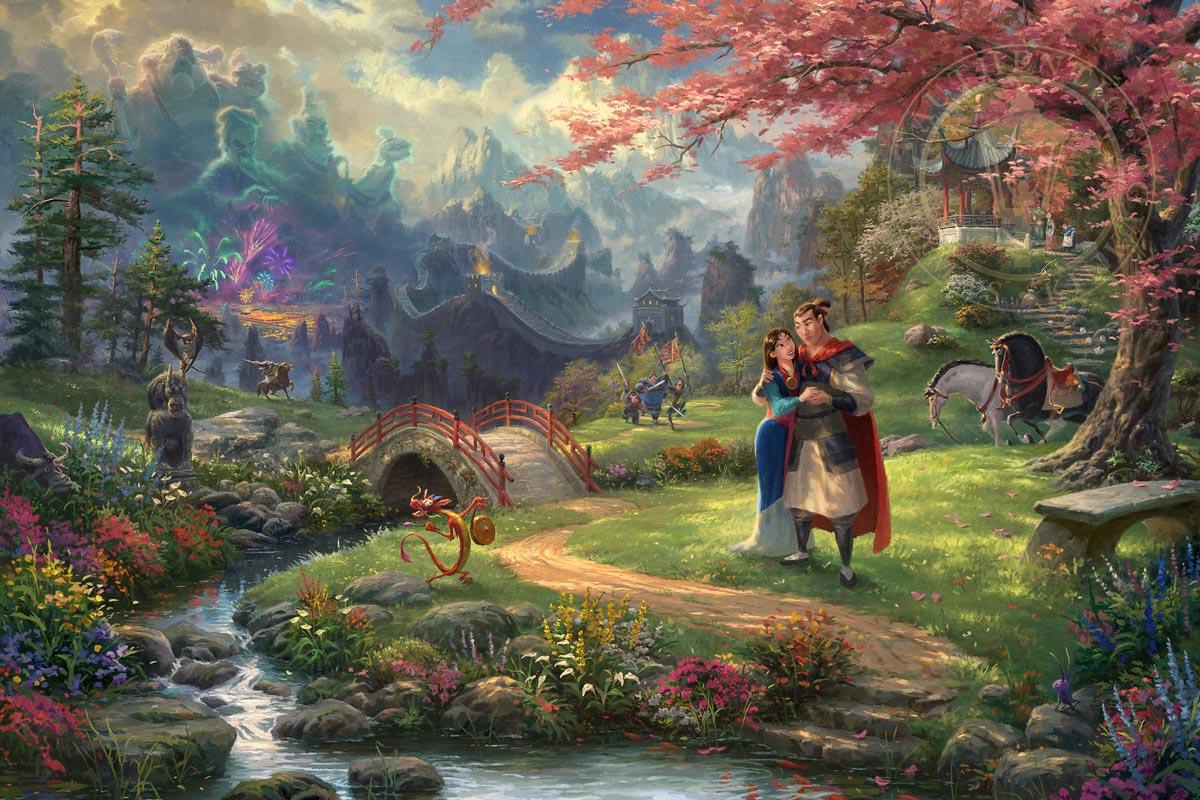 thomas kinkade mulan blossoms of love
