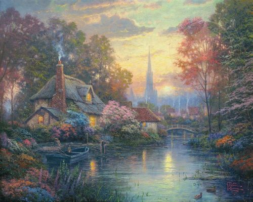 thomas kinkade nanettes cottage