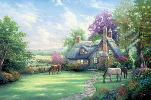 thomas kinkade a perfect summer day