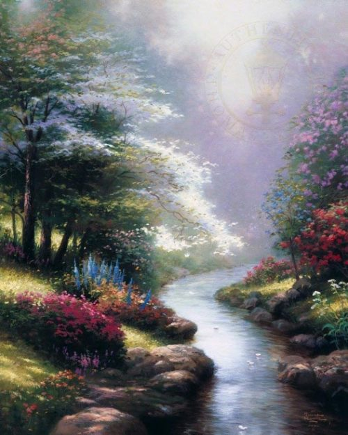 thomas kinkade petals of hope