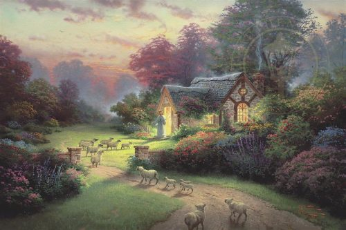 thomas kinkade the good shephers's cottage