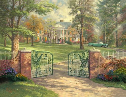 thomas kinkade graceland 50th anniversary