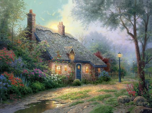 thomas kinkade moonlight cottage