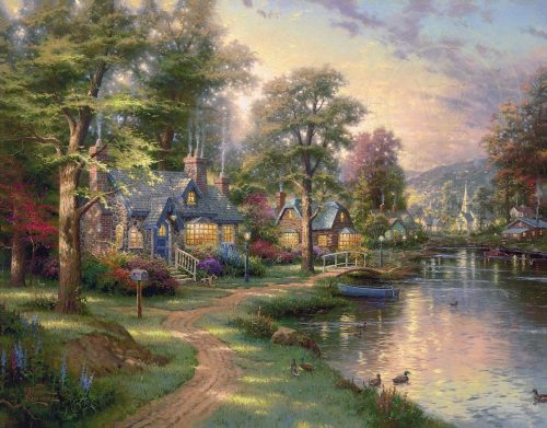 thomas kinkade hometown lake