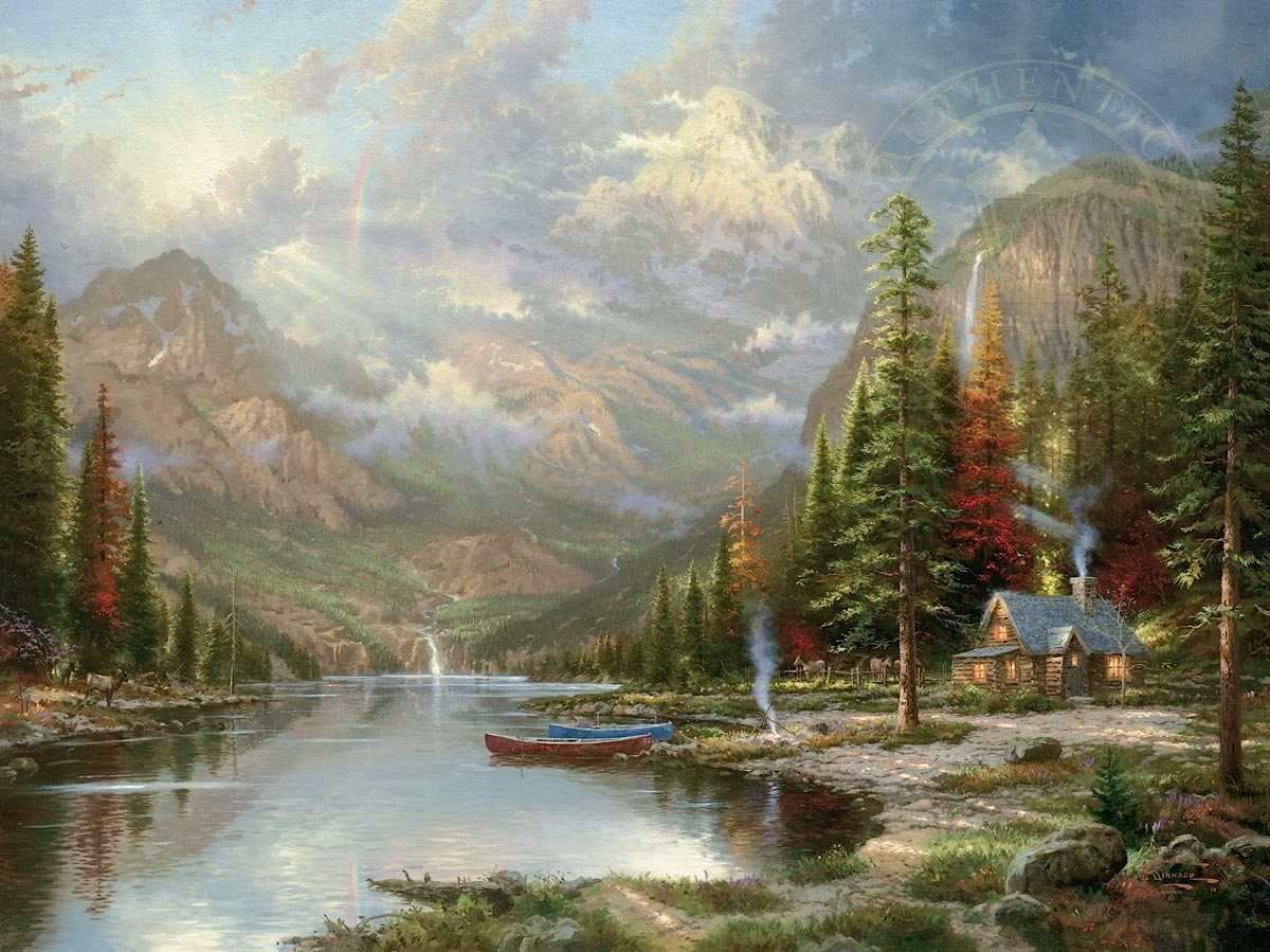 thomas kinkade mountain majesty