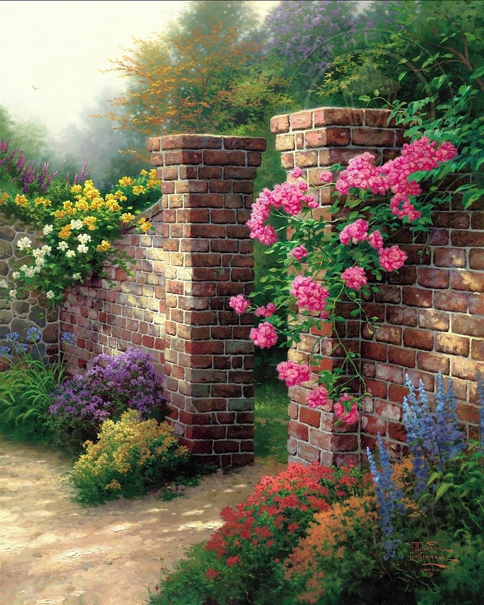 thomas kinkade the rose garden