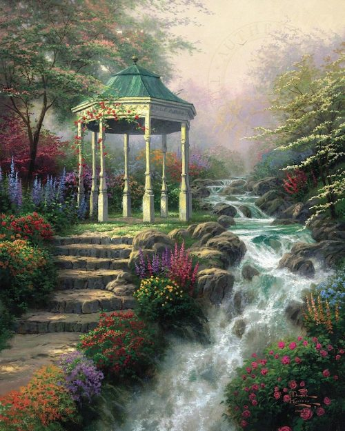 thomas kinkade sweetheart gazebo