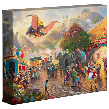 thomas kinkade Disney Dumbo – 8″ x 10″ Gallery Wrapped Canvas