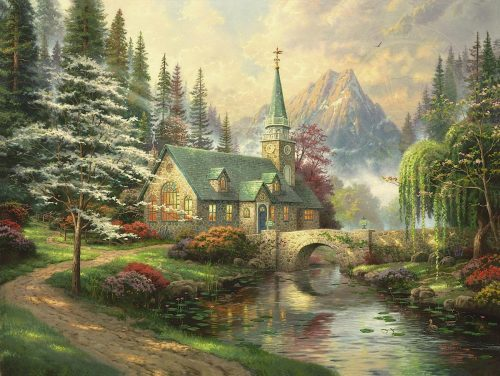 thomas kinkade dogwood chapel