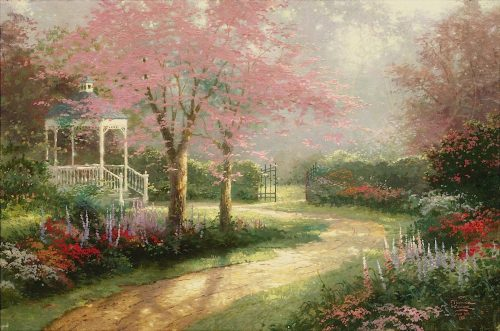 thomas kinkade morning dogwood