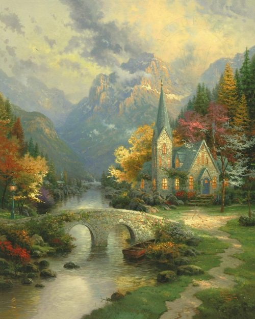 thomas kinkade mountain chapel