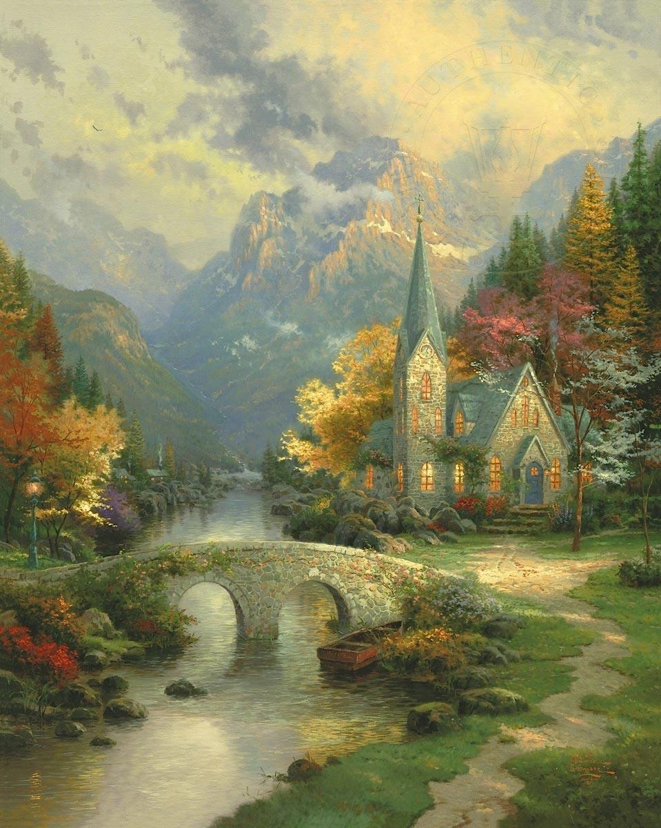 thomas kinkade mountain chapel