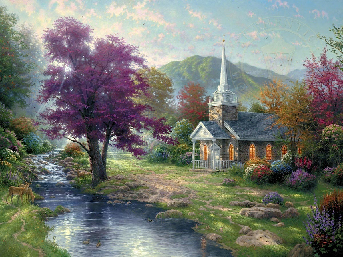thomas kinkade streams of living water