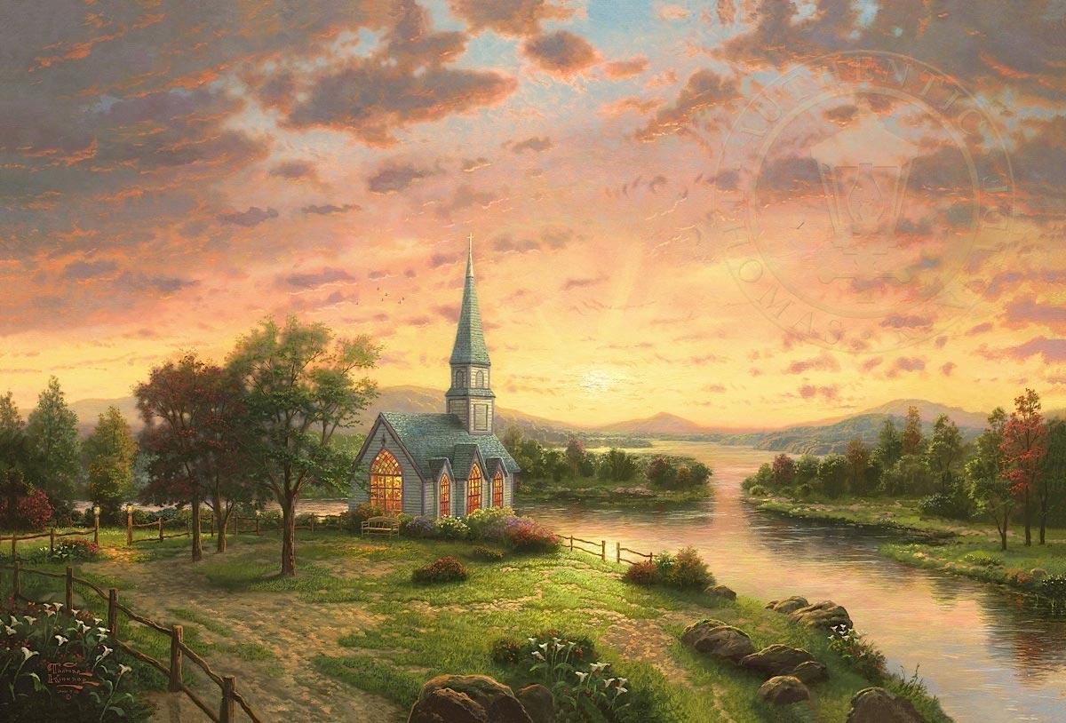 thomas kinkade sunrise chapel