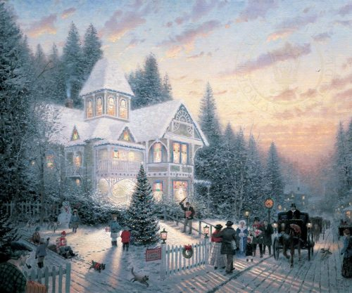 thomas kinkade victorian christmas