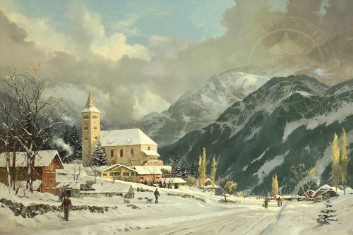 thomas kinkade winter chapel