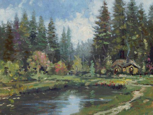 thomas kinkade cottage in the pines