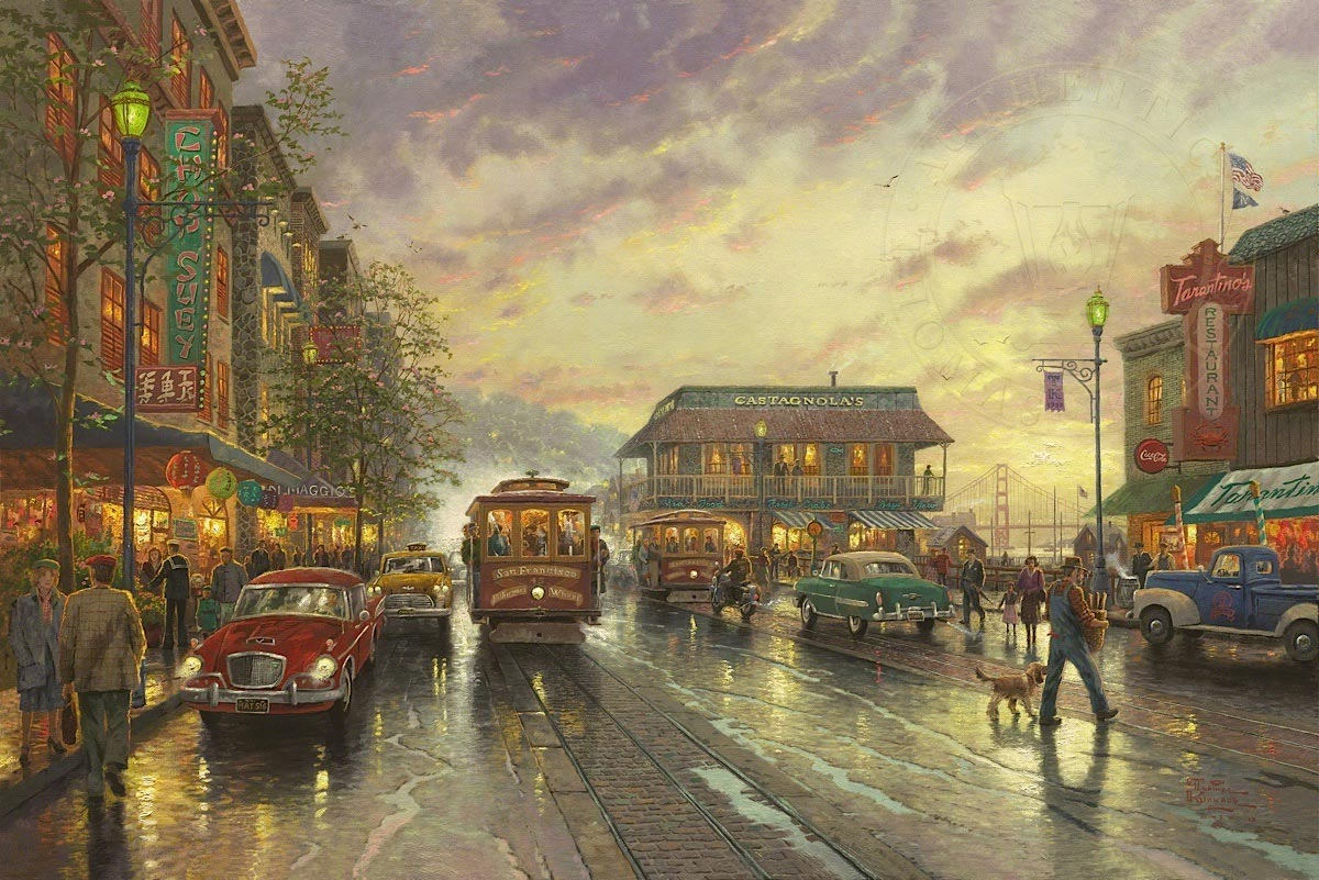 thomas kinkade city by the bay