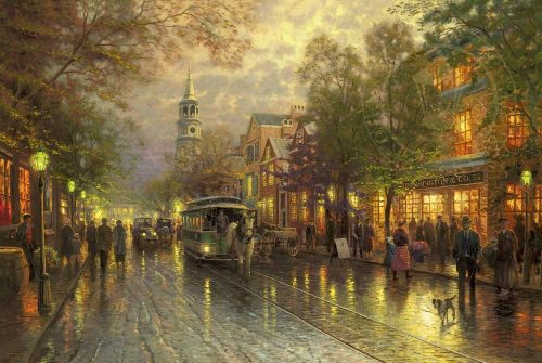 thomas kinkade evening on the avenue