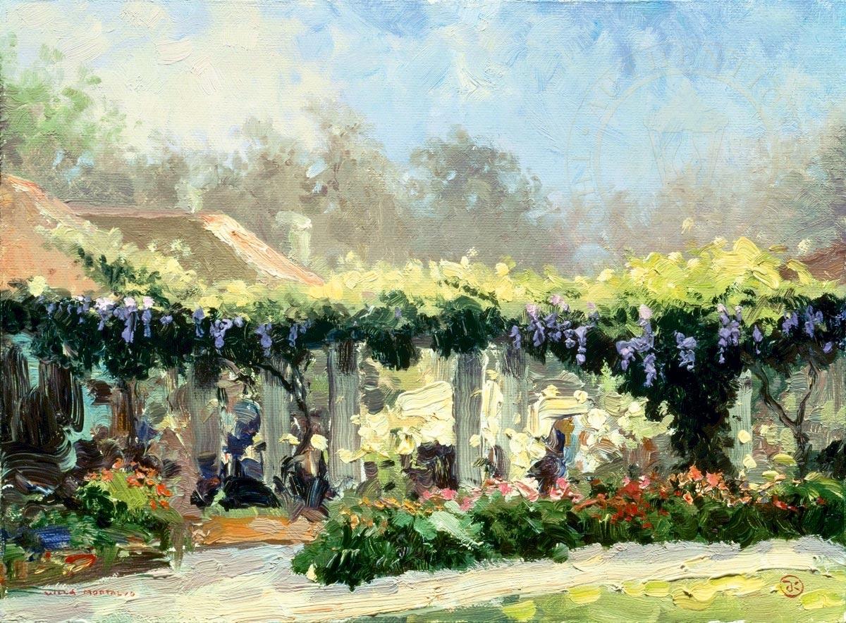 thomas kinkade wisteria arbor