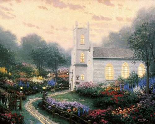 thomas kinkade blossom hill church