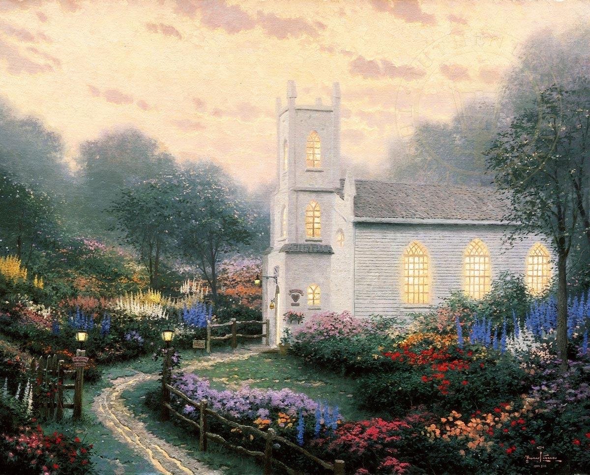 thomas kinkade blossom hill church