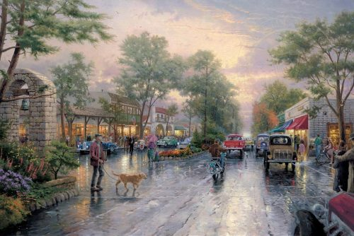 thomas kinkade carmel sunset on ocean avenue