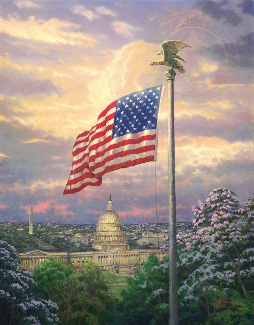 thomas kinkade america's pride