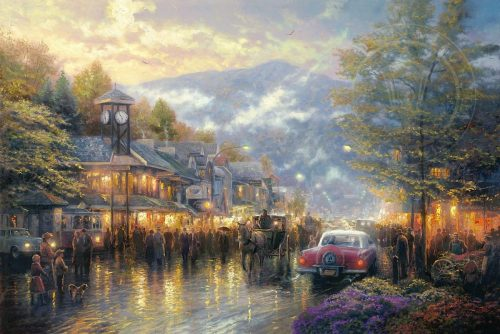 thomas kinkade mountain memories