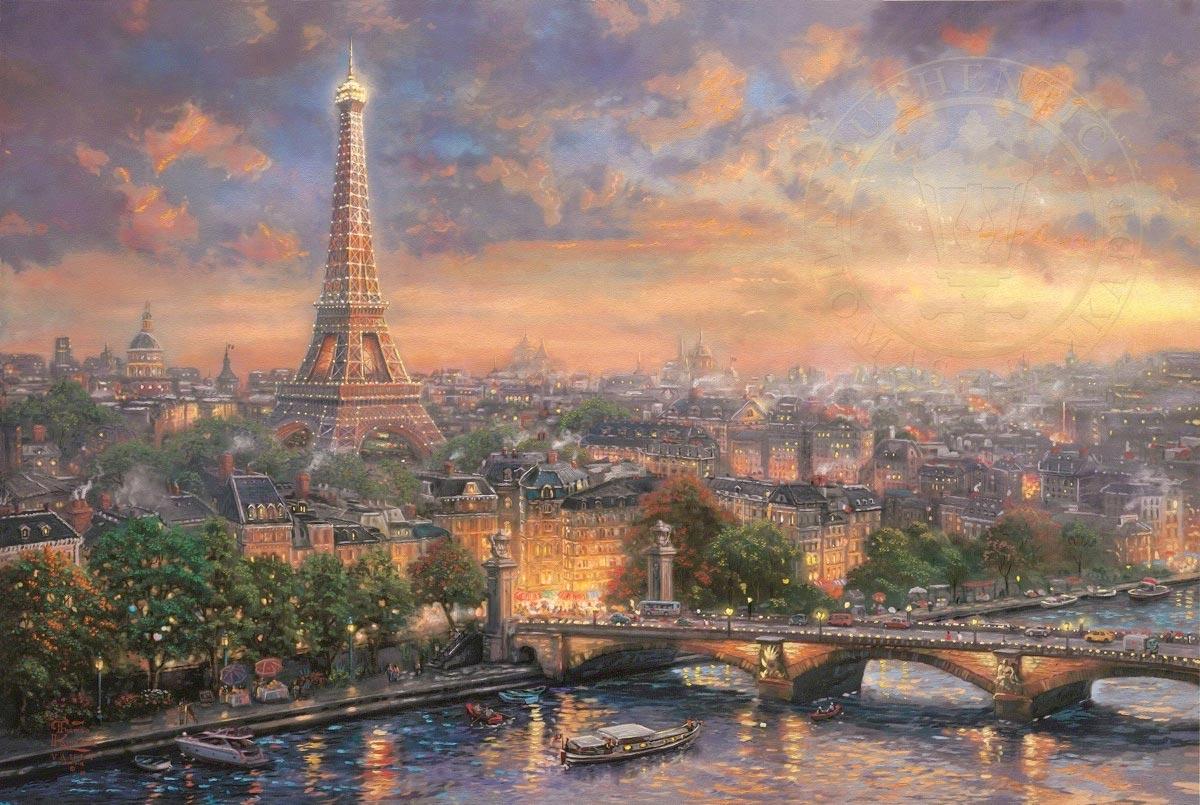 thomas kinkade paris city of love