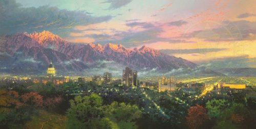 thomas kinkade salt lake city of lights