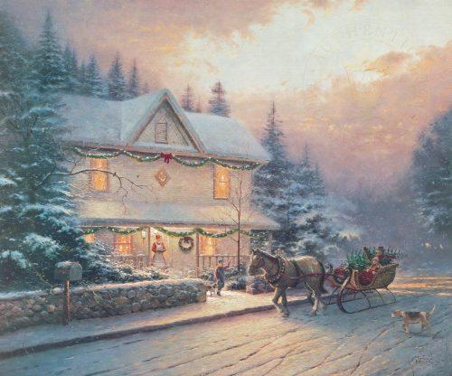 thomas kinkade victorian christmas iv