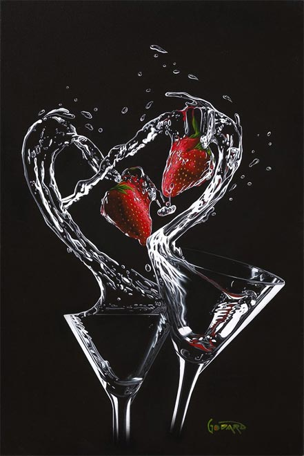 michael godard strawberry splash