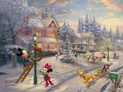 thomas kinkade mickey's victorian christmas
