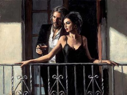 fabian perez fabian and lucy at the balcony ii