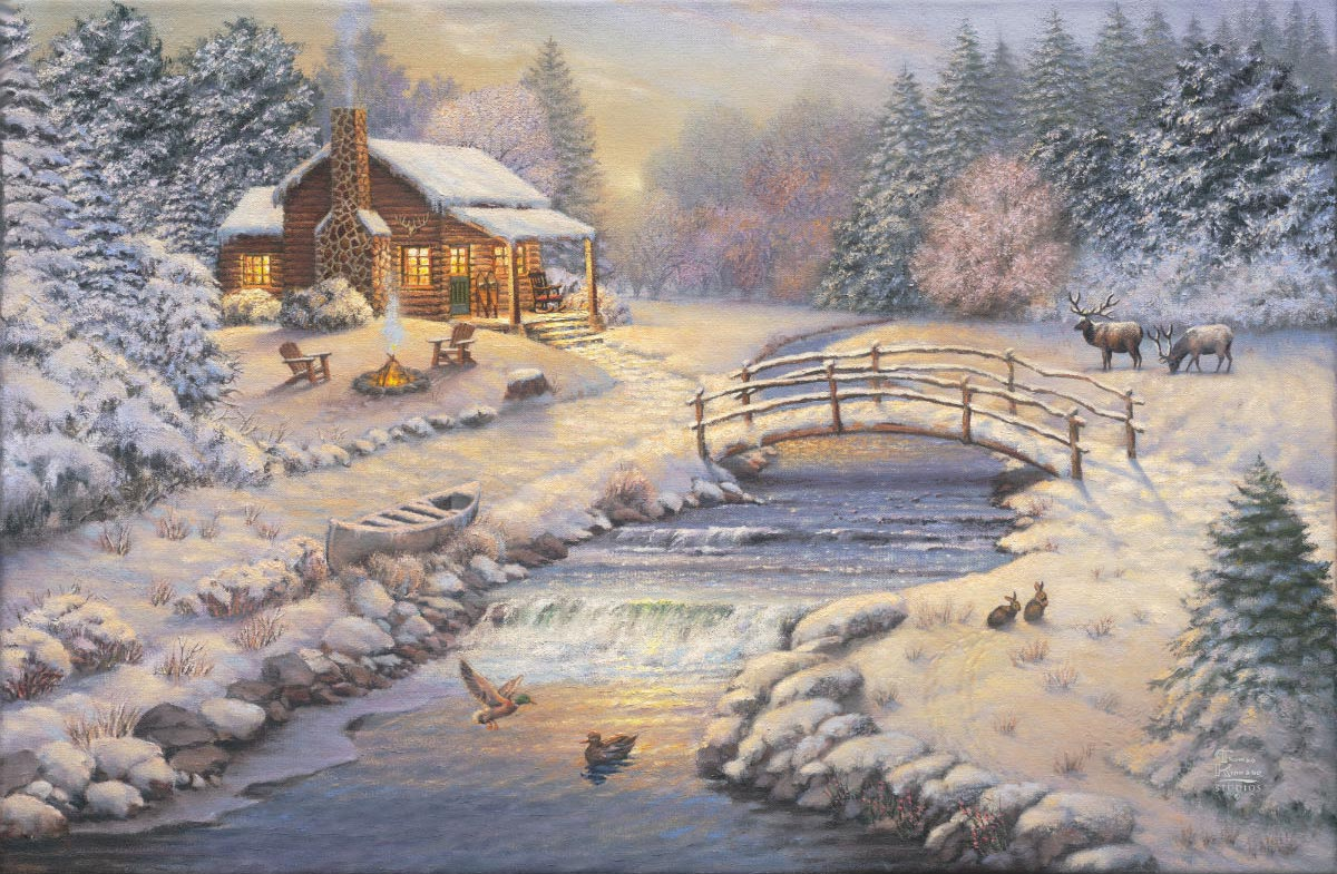 thomas kinkade a winter retreat