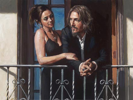 fabian perez fabian and lucy at the balcony