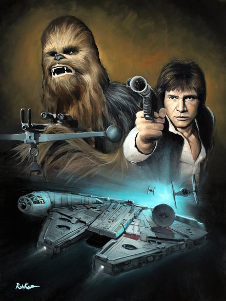 thomas kinkade wookiee and the scoundrel