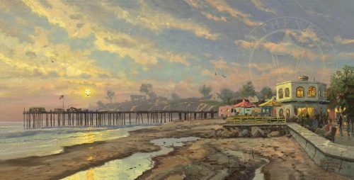 thomas kinkade capitola sunset