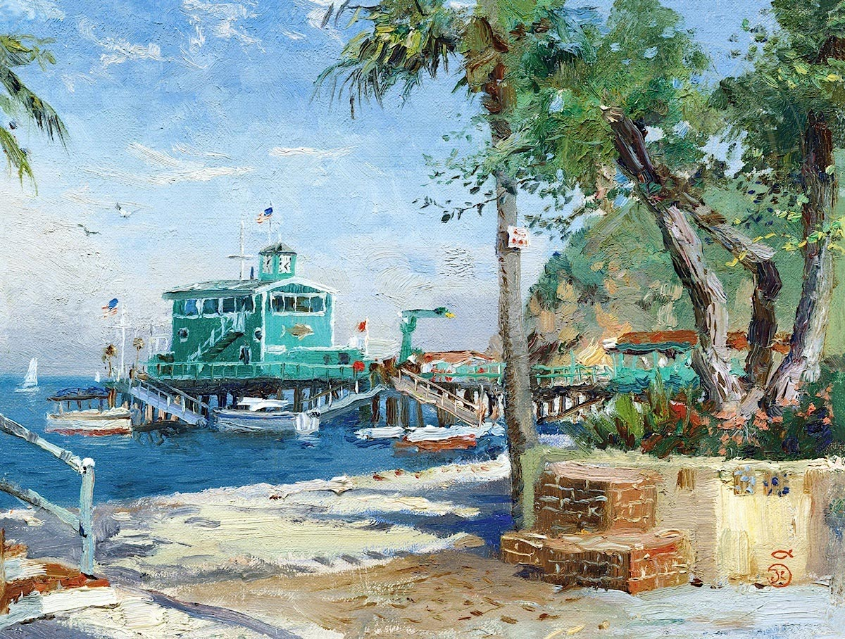 thomas kinkade catalina rosies on the pier