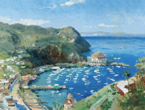 thomas kinkade catalina view from mt ada