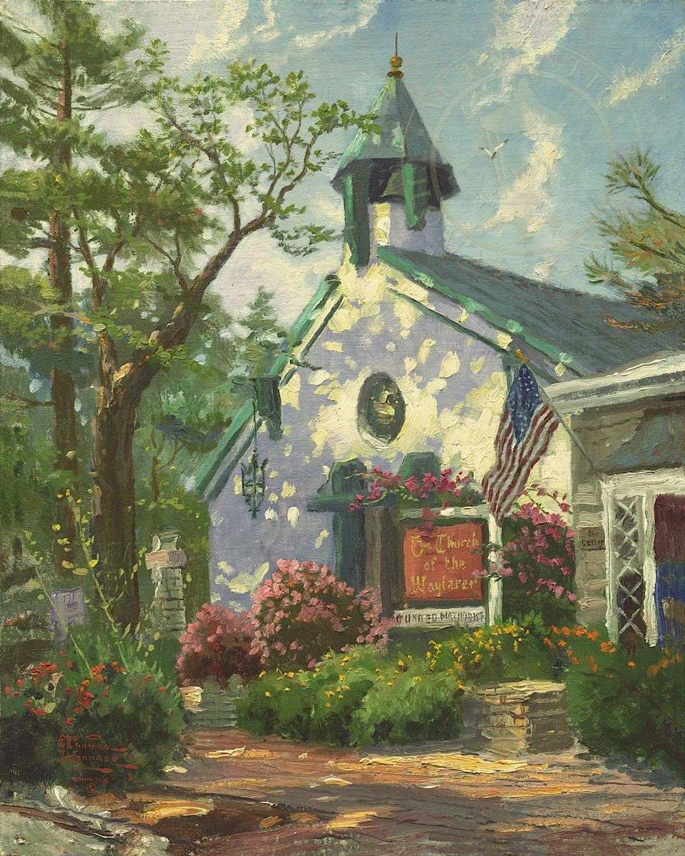 thomas kinkade church of the wayfarer