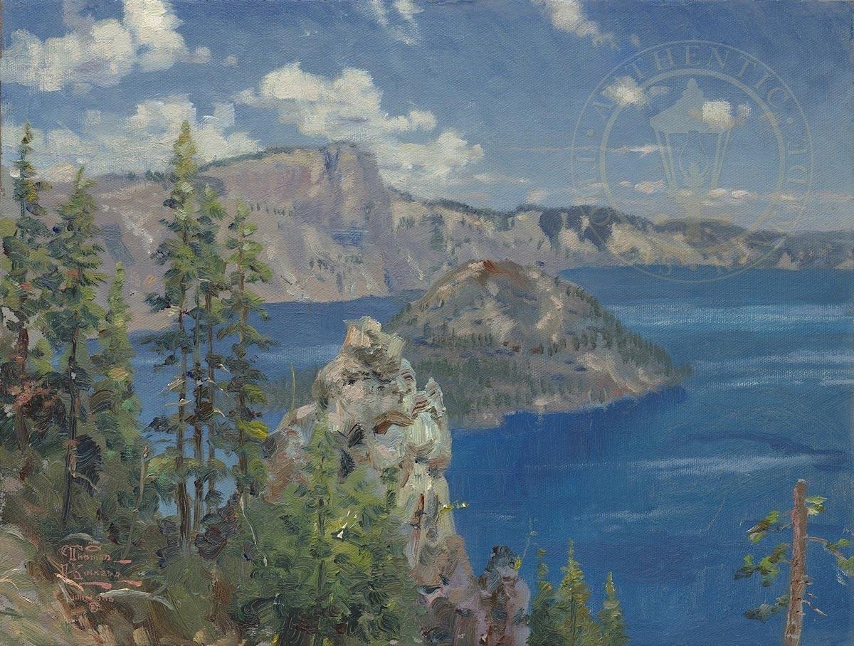 thomas kinkade crater lake