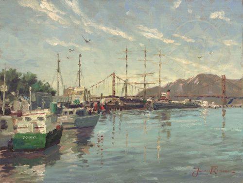 thomas kinkade fisherman's wharf marina