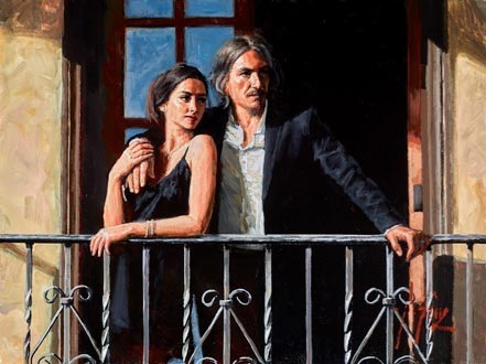 fabian perez fabian and lucy at the balcony iii