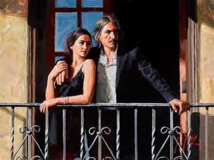 fabian perez fabian and lucy at the balcony iii
