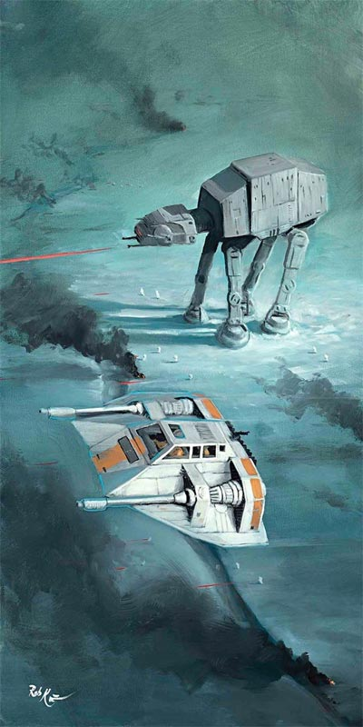 rob kaz snow speeder fly over